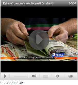 Dusty Wallet extreme couponing featured on CBS Atlanta