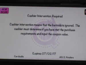 cashier intervention