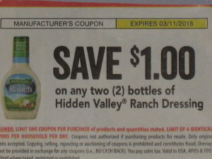 hidden valley ranch coupon